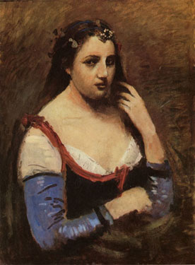 Portrait of a Woman (Lady with a Marguerite (Daisy)),<br>Camille Corot