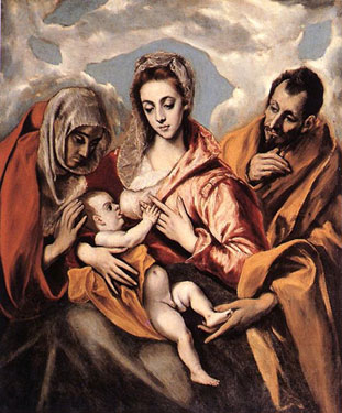 The Holy Family with Saint Anne,<br>El Greco