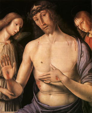 The Dead Christ with Two Angels,<br>Giovanni Santi