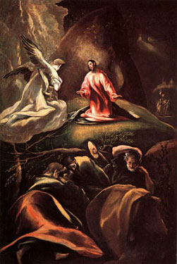 The Agony in the Garden, El Greco (Domenikos Theotokopoulos).<br> This painting is one of El Grecos most renowned.