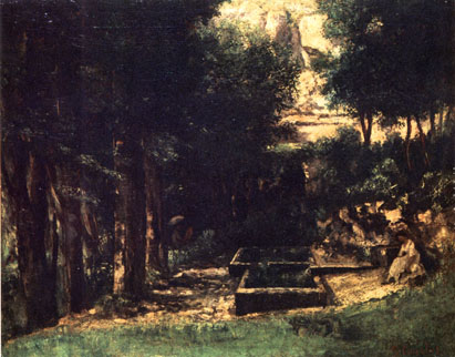 The Spring (Artist and Model),<br>Gustave Courbet