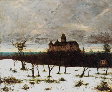 Le Château de Blonay (neige), (The Chateau of Blonay (snow)),<br>Gustave Courbet