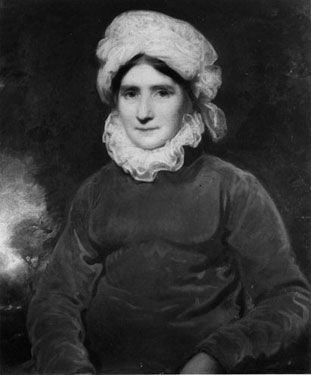 Portrait of a Lady, half-length, in a White Bonnet,<br>John Opie